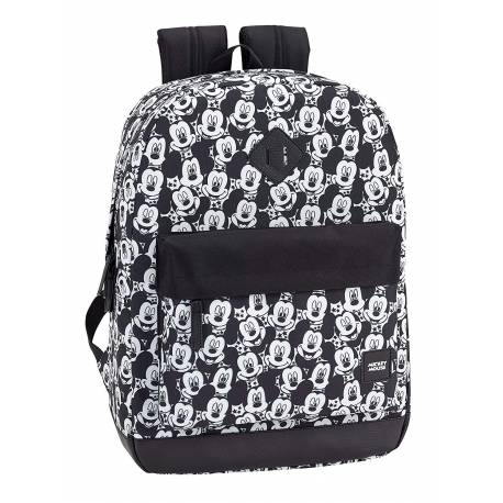 Mochila Escolar Mickey Mouse Teen 43x32x14 cm Poliéster Adaptable a carro