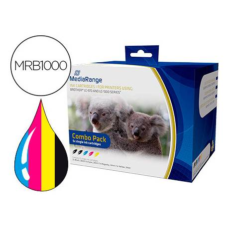 Cartucho compatible Brother LC-970/LC-1000 Multipack MRB1000