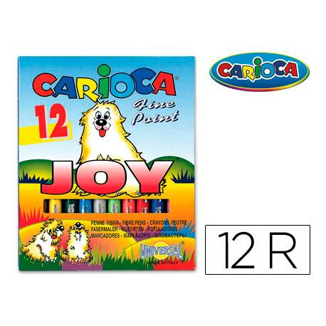Rotulador Carioca Joy finos lavables caja 12 rotuladores