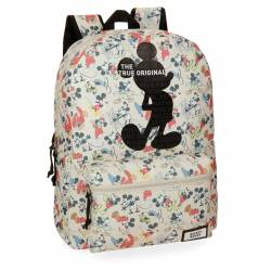 Mochila escolar Mickey 42x32x16 cm de Poliester True Original adaptable a carro