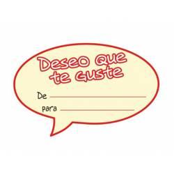 Etiqueta para regalo Arguval Deseo que te guste Rollo 250 unidades Catalan Modelo 46