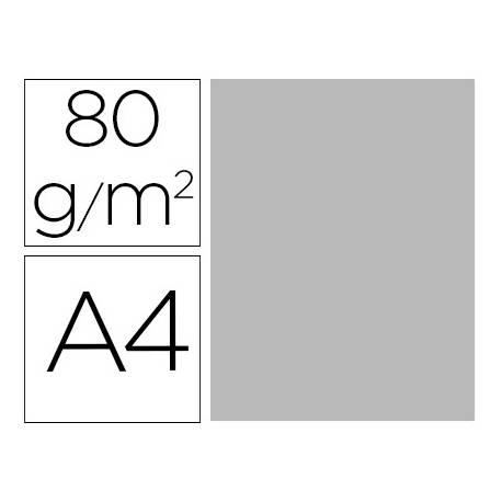 Papel color Liderpapel color gris A4 80g/m2 15 hojas