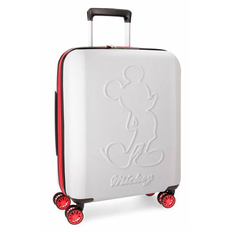 Maleta de cabina 55x40x20 cm Rigida Mickey Colored de color Blanco