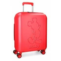 Maleta de cabina 55x40x20 cm Rigida Mickey Premium de color Rojo