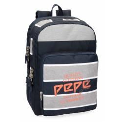 Mochila Pepe Jeans 44x31x15 cm de Poliester Pierre adaptable a carro doble compartimento